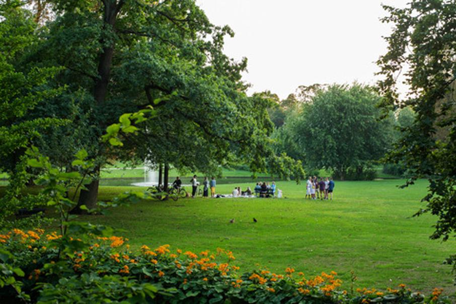 Green park in Copenhagen